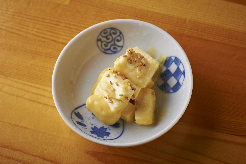 クリームチーズの西京味噌付